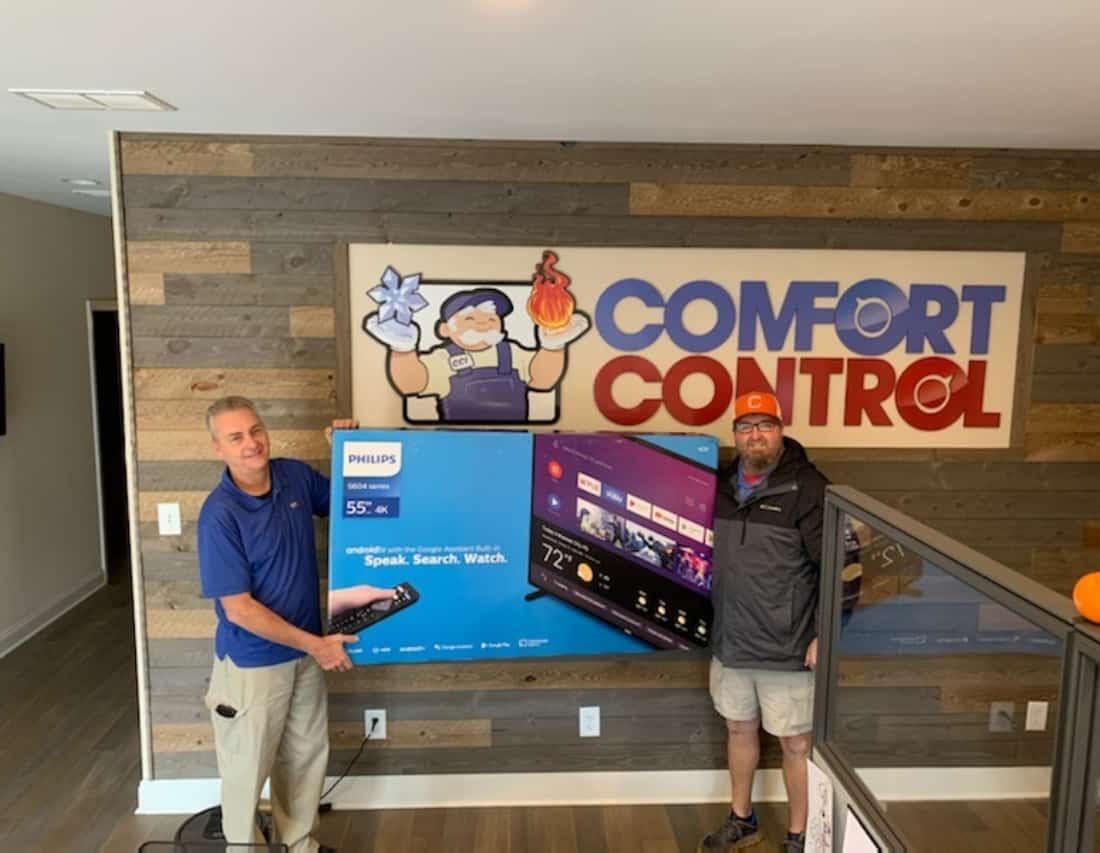 Comfort Control Tv Giveaway 1